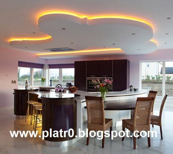 D coration cuisine en placoplatre for Decoration plafond cuisine