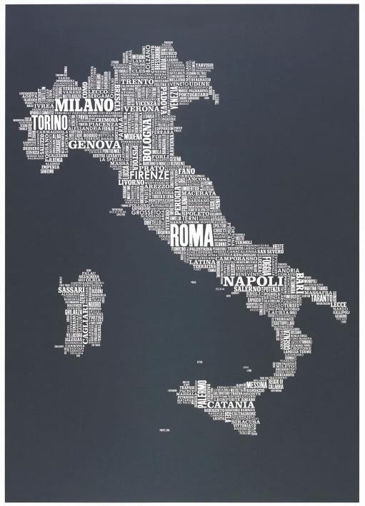 Интересные факты про Италию Страны мира Самое интересное С s  Карта Италии названия городов