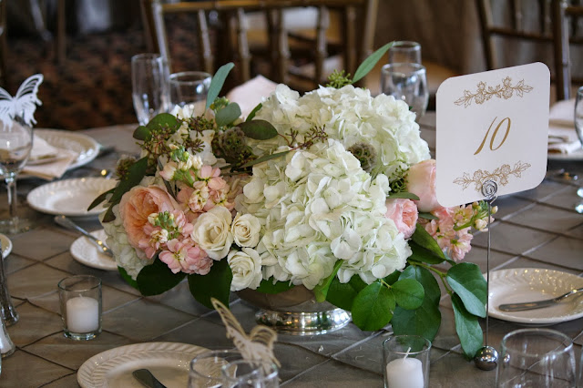 Falkirk Estate and Country Club Wedding Pictures - Wedding Flowers - Table Centerpiece Splendid Stems - Central Valley, NY