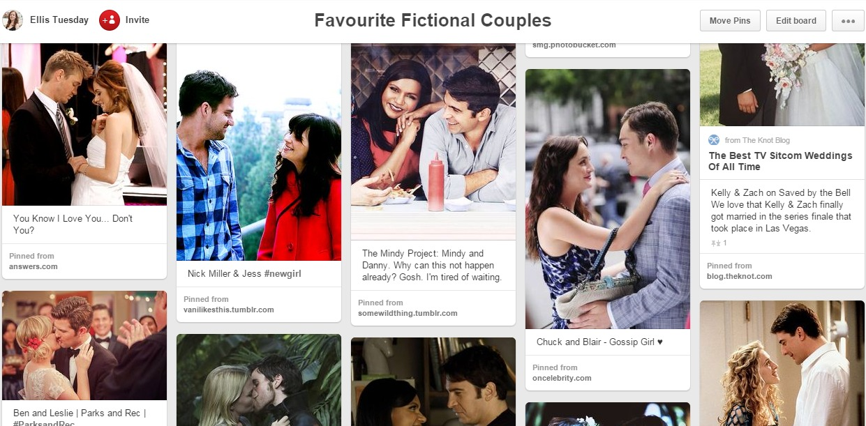 TV Love Pinterest Board