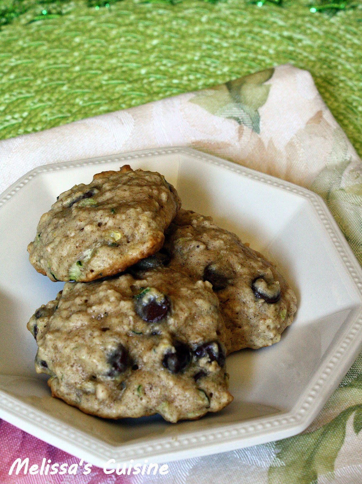 Melissa's Cuisine: Zucchini Chocolate Chip Cookies