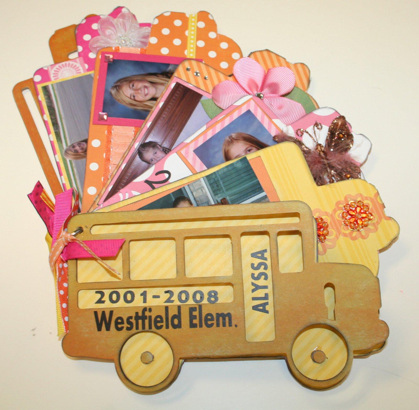 Oh my crafts chipboard school bus album