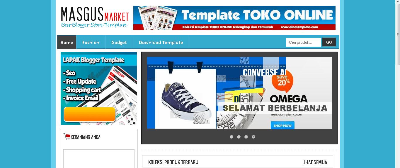 Template Toko Online Blog Gratis