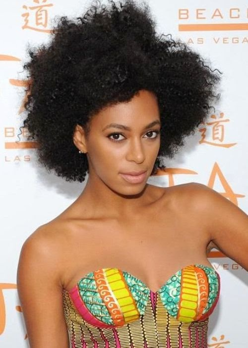 Solange Knowles African American Big Natural Afro Hairstyle Idea