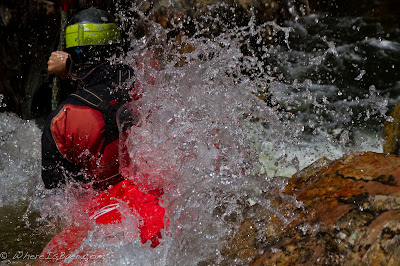 Ben Newman getting warmed up in the Big South fork of the Cahce le Poudre, Chris Baer, CO, colorado