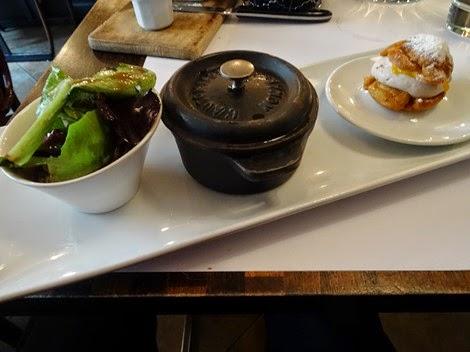 Plateau repas menu déjeuner bistrot auvergnat La Ferrandaise Paris 06 ème.