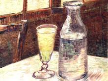Van Gogh: natureza morta com absinto, +/- 1887