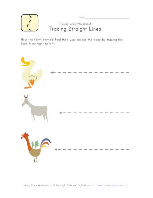 Drawing Lines Vb : تمارين وانشطة للاطفال المستوى الاول التمهيدي والروضة جاهزة