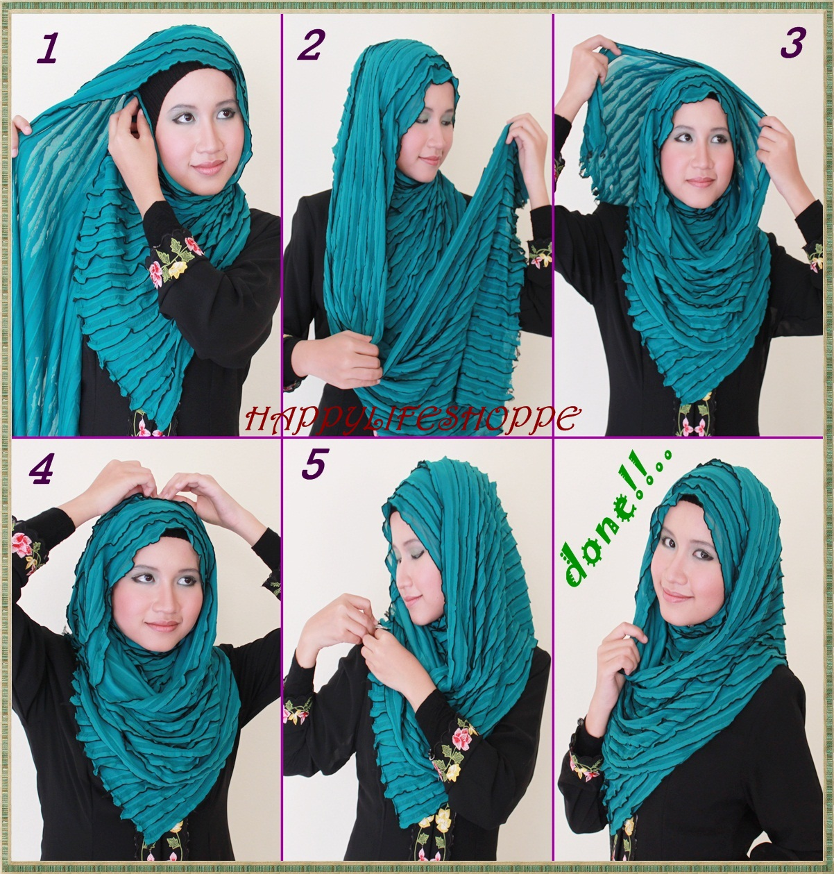 Tutorial Hijab Terbaru Tutorial Hijab Pesta Untuk Wajah Bulat