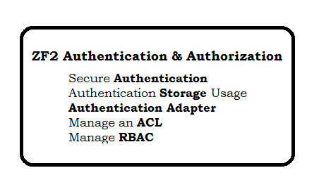 Zend Framework 2 Authentication and Authorization