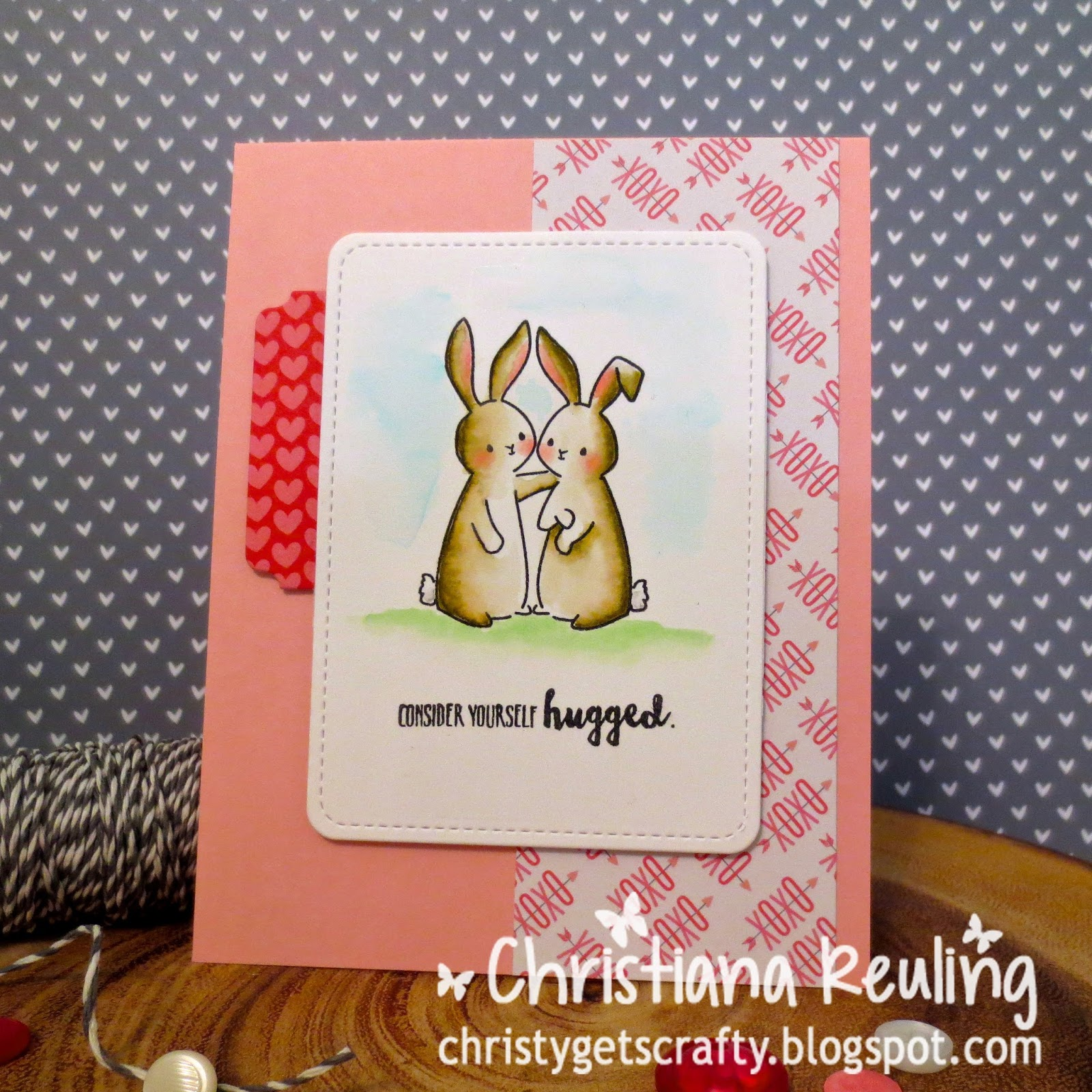 Christy gets crafty consider yourself hugged 2016 valentine card consider yourself hugged 2016 valentine card series 3 solutioingenieria Images
