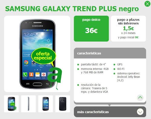 Samsung Galaxy Trend Plus con Amena por 36 euros