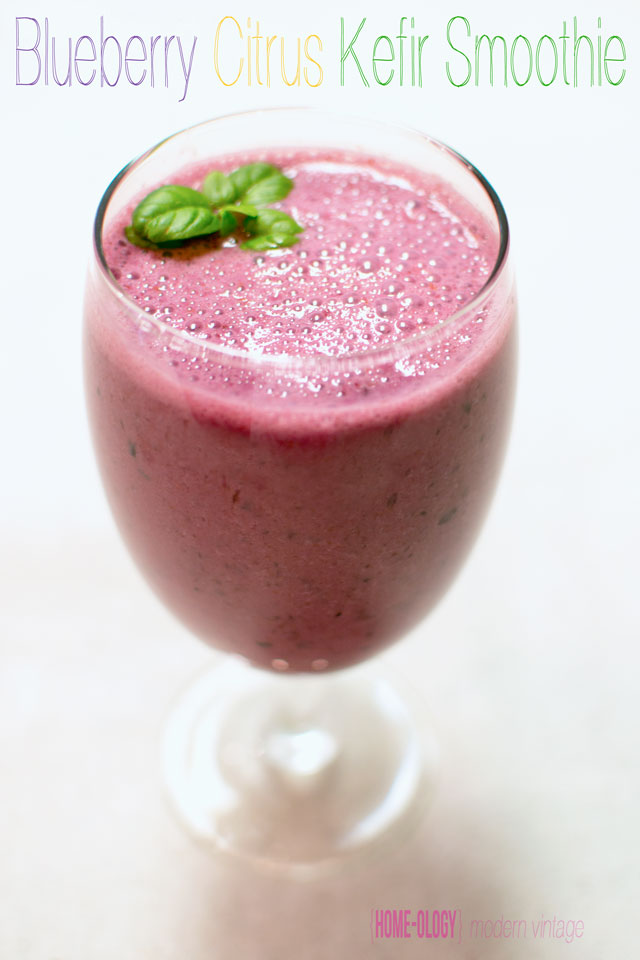 blueberry-citrus kefir smoothie