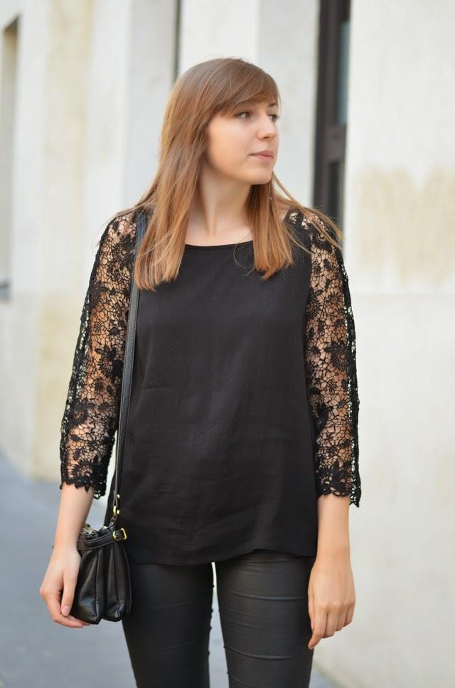 blouse détails dentelle promod
