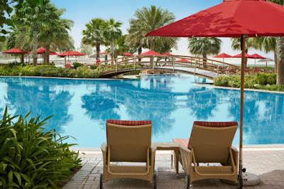 Khalidiya Palace has one of the biggest outdoor hotel pools in the area