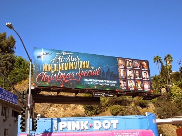 Christmas Special Comedy Central billboard 2014