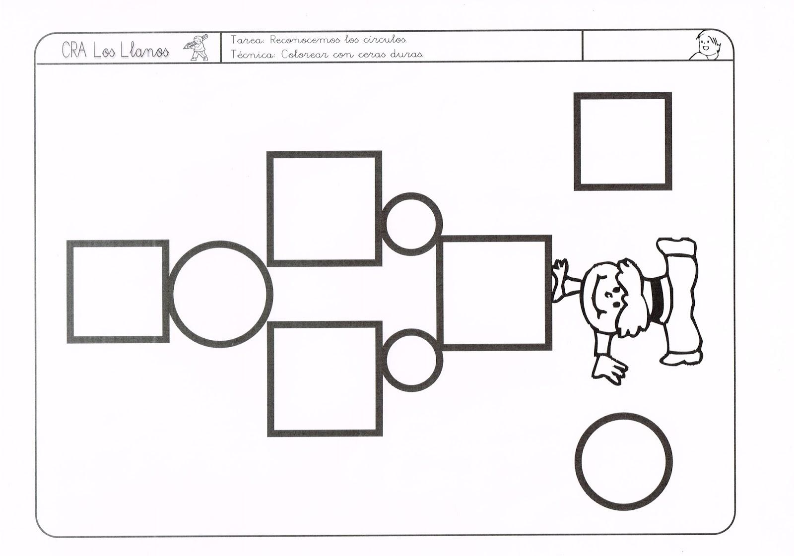 Trabajando en Educación Infantil: 10 fichas para identificar el círculo