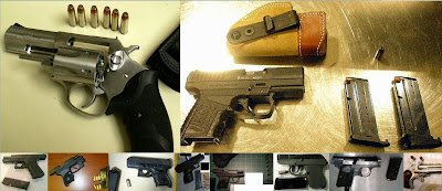 (Top to Bottom - Left to Right) Guns Discovered at SDF, MIA, MIA, ICT, BOI, JAX, LAS, MLU, SEA, IAH