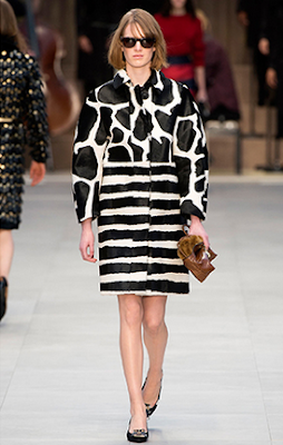 Burberry Prorsum FW13 Black and white animal print