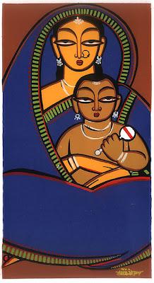 jamini roy mum and child
