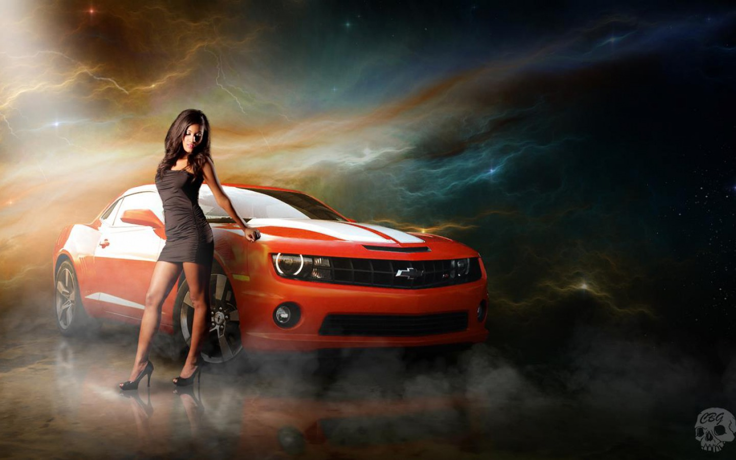 girls and tuner car - photo #19