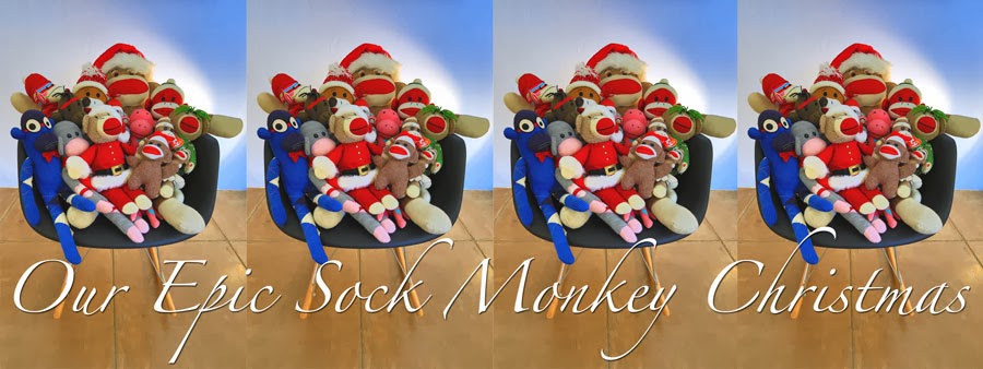Our Epic Sock Monkey Christmas