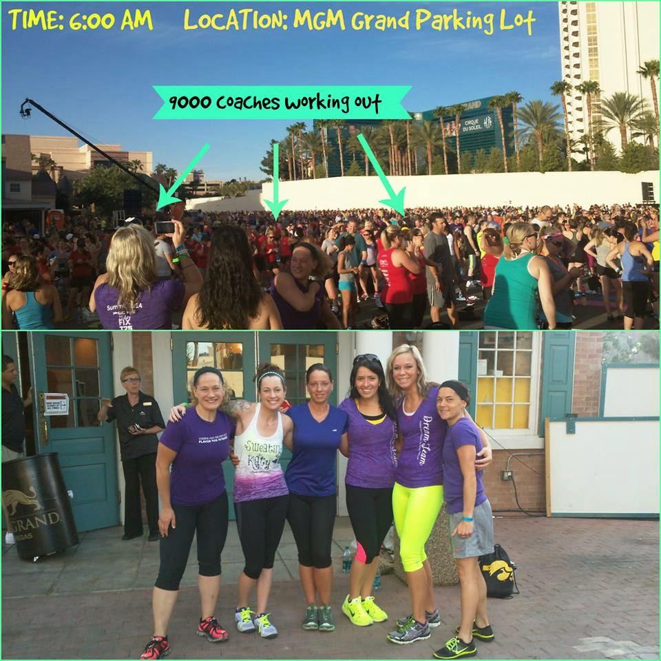 super workout, MGM Grand, Las Vegas, Team Beachbody, Beachbody Coach Summit, Shaun T, never give up, P90x, beachbody coach
