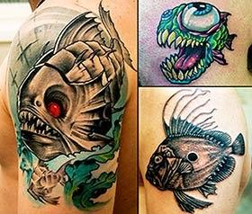 Fotos tatuagens de peixes piranha