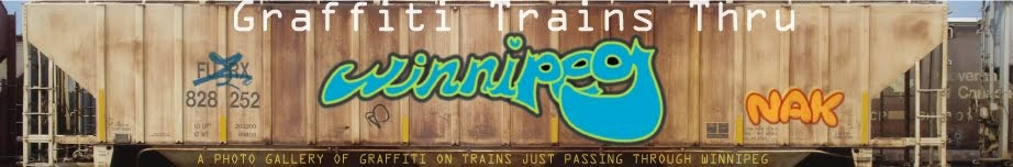 Graffiti Trains Thru Winnipeg