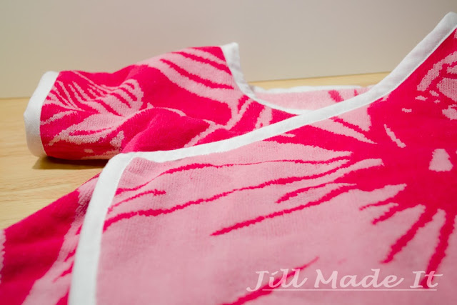 Beach Robe Tutorial:  Bound Edges