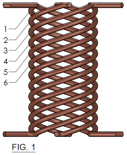 FIG. 1 - Concentric Helix-coils