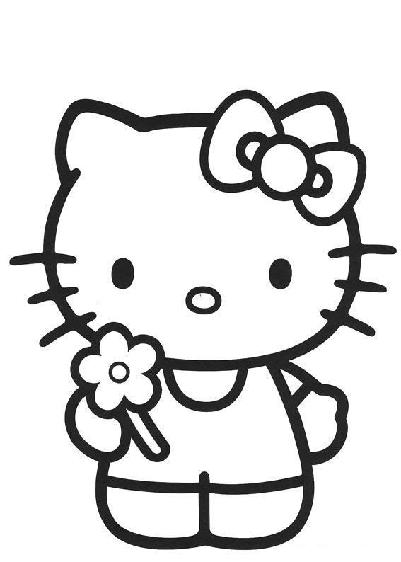 Google Hello Kitty Coloring Pages : รวมภาพระบายสีการ์ตูนคิตตี้ แบบต่างๆ สนับสนุนคนไทยให้รัก