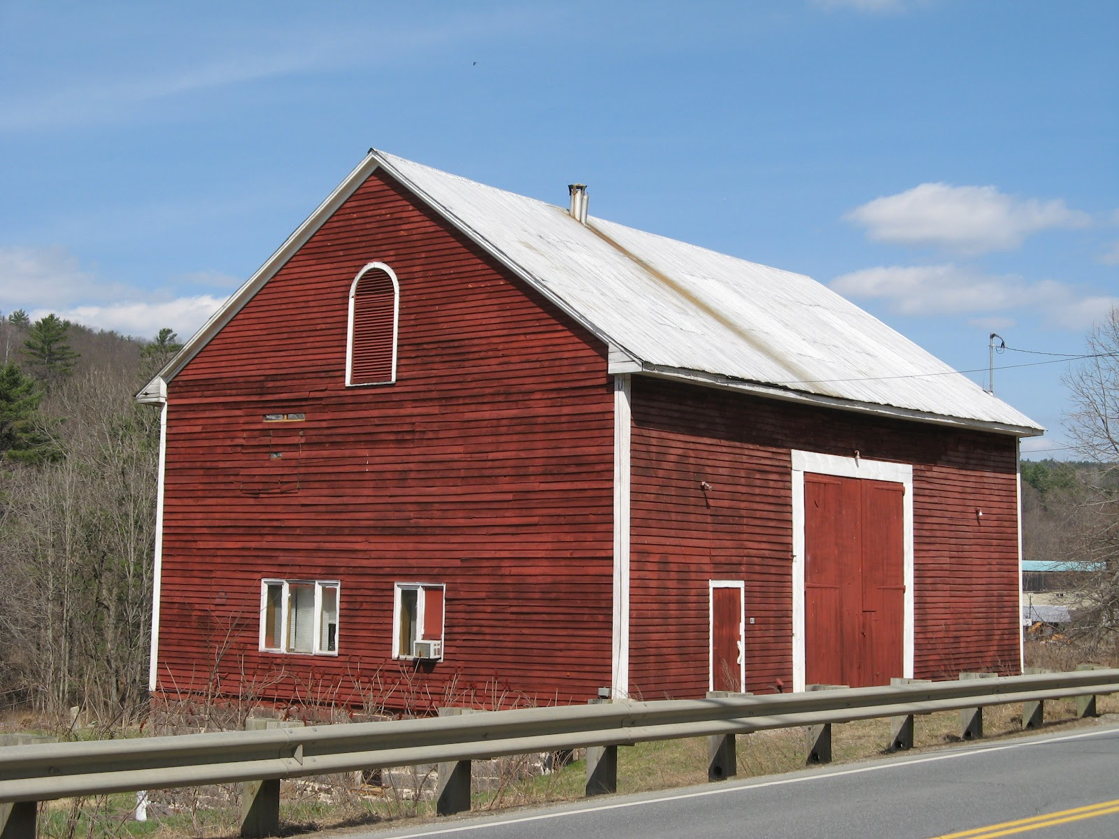 This Barn Has Been Made Into A House There Is A Number On The Door