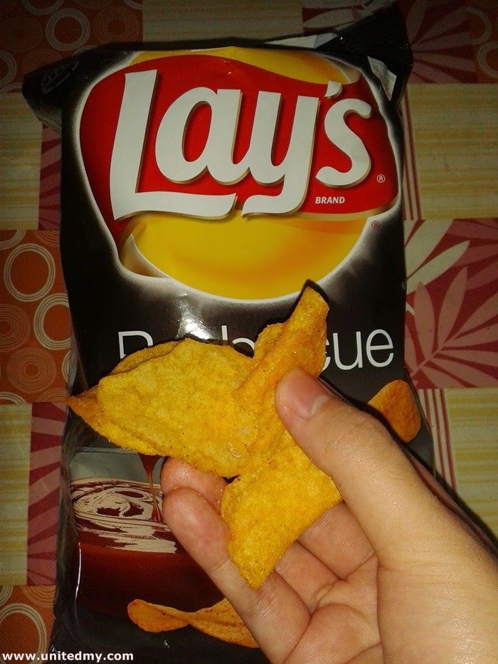 Lay Potato chip barbecue