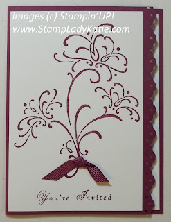 Wedding Invitation made with Stampin'UP! Stamp set: Wedding Sweet. Made by Stamp Lady Katie