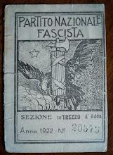 1922 - TESSERA DEL FASCIO DI TREZZO SULL' ADDA