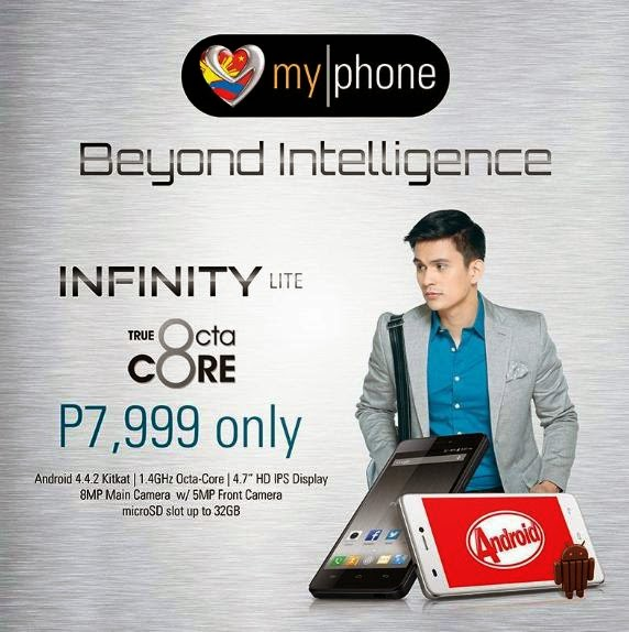 MyPhone Infinity Lite, Octa Core HD KitKat Smartphone For Php7,999