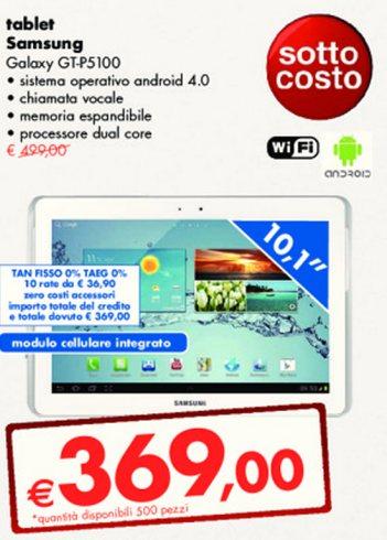 Tasso zero e prezzo sottocosto l'ultima offerta Panorama sul Tablet con chiamate vocali Galaxy Tab 2 P5100