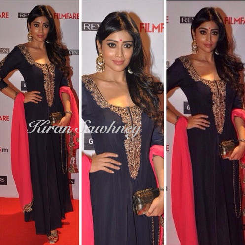 Shriya Saran at Filmfare Pre-Awards Party 2015 in Manish Malhotra