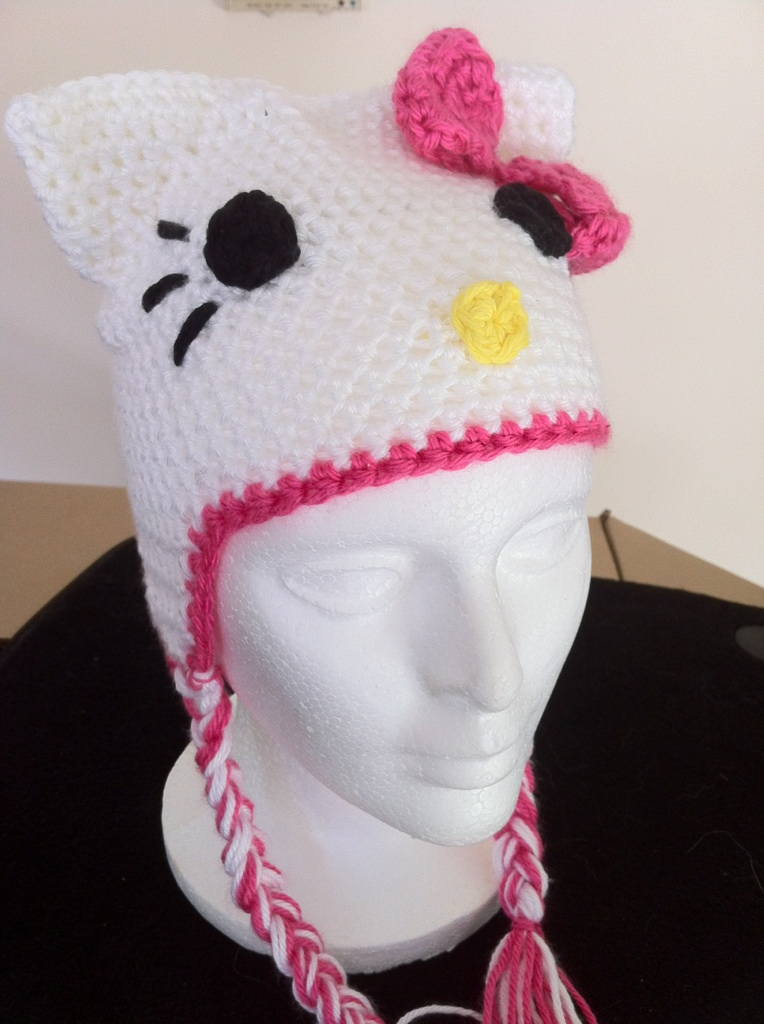 Free Crochet Pattern Hello Kitty Hat : Only the beginning: ? Hello Kitty