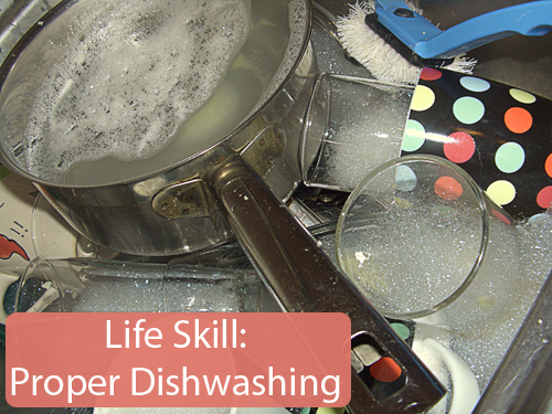 Teaching children how to properly wash dishes prevents broken dishes and instills them with an important life skill.