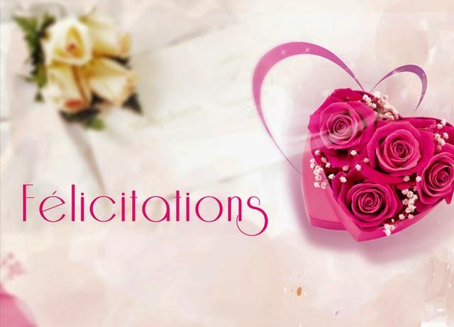 Texte gratuit de félicitation pour un mariage