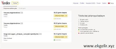 Yandex Toloka İle Para Kazanmak - www.ekgelir.xyz