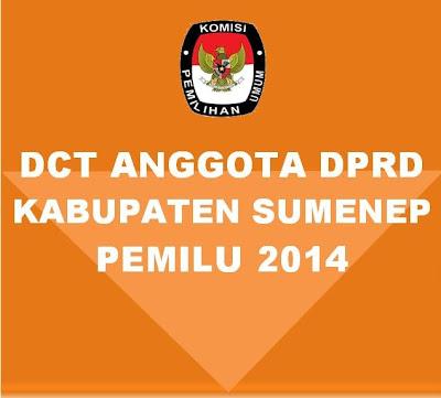 DCT Anggota DPRD Sumenep Pemilu 2014