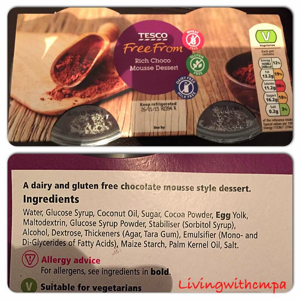 Shop dairy and soya free desserts, living with cow's milk protein allergy