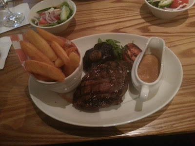10oz rump steak & triple cooked chips - beefeater