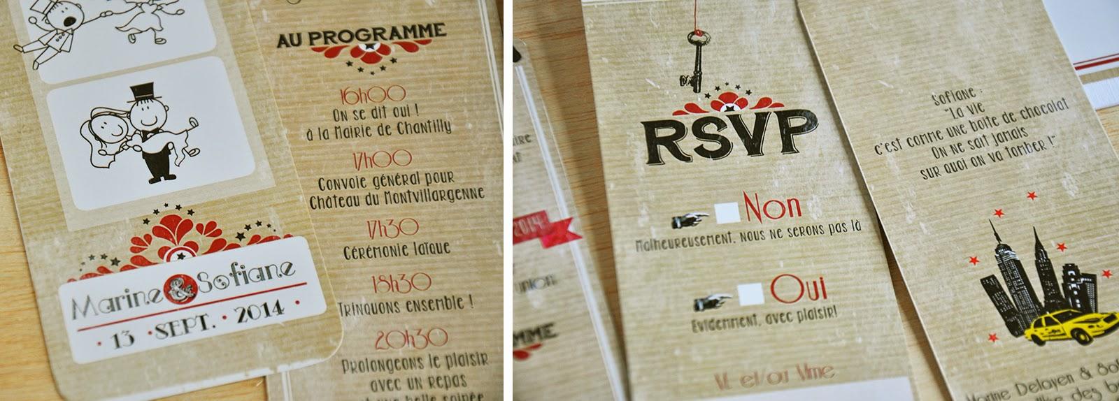 Connu Arrête de Rêver - Faire-part: Mariage Marine & Sofiane  IW37