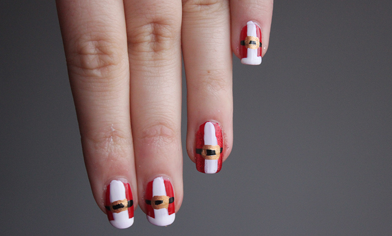 Christmas Nails Father Christmas Clothing A Little Obsessed