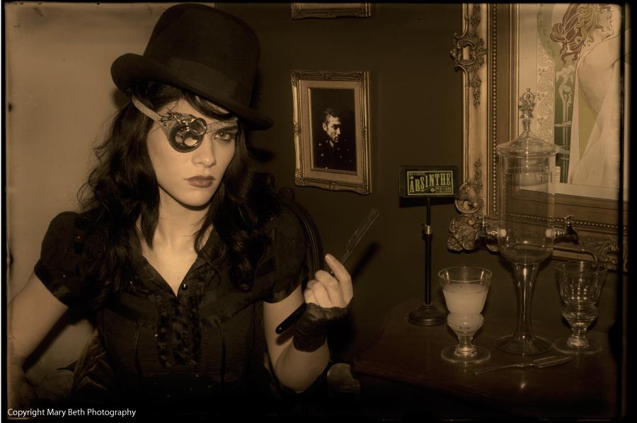 Steampunk photo shoot at the absinthe parlour absinthe for Absinthe salon utah