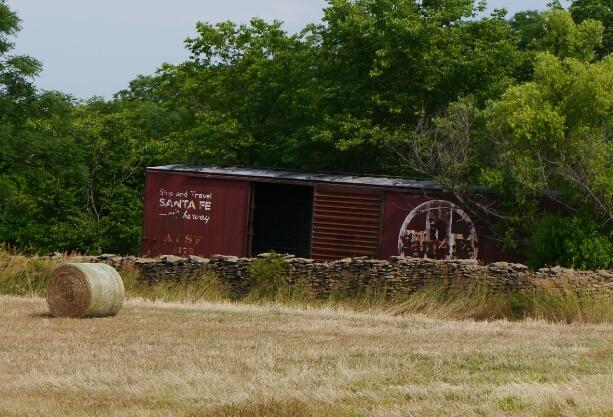 Santa Fe boxcar shed